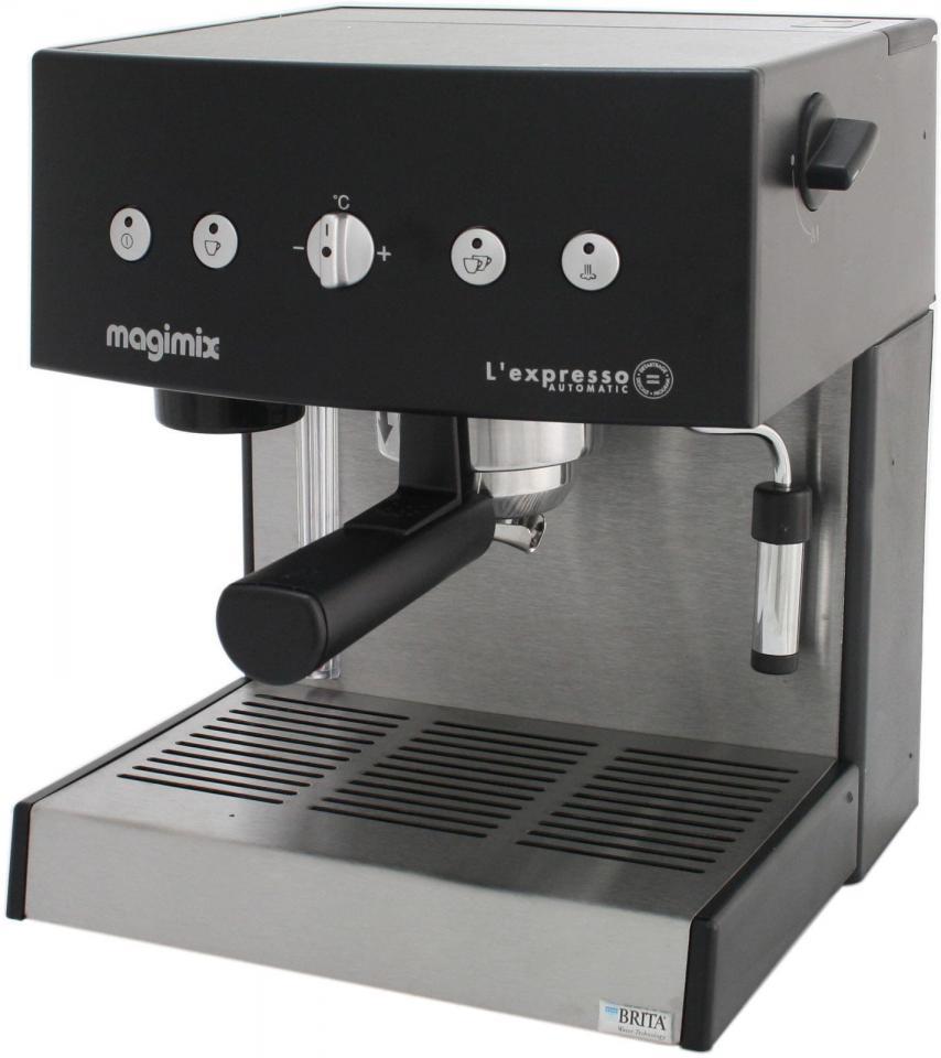 machine expresso noire automatique magimix pour caf moulu. Black Bedroom Furniture Sets. Home Design Ideas