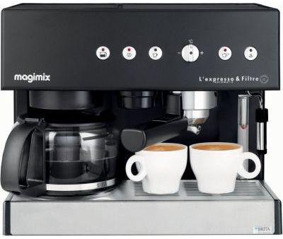 machine expresso filtre noire magimix pour espresso et. Black Bedroom Furniture Sets. Home Design Ideas