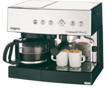 machine expresso filtre automatique chrom mat magimix pour espresso et caf fil. Black Bedroom Furniture Sets. Home Design Ideas