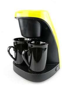 Machine à café bicolore (noire