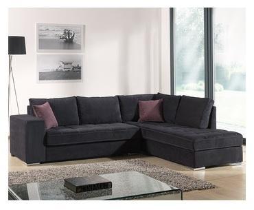 Canapé d angle noir en tissu