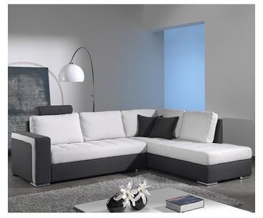 Canapé d angle gris en tissu