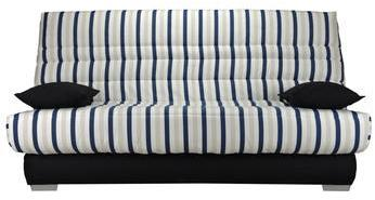 Banquette clic-clac rayures