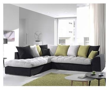 Canapé d angle gris et noir