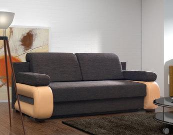 Canapé convertible en tissu