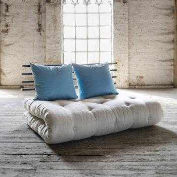 Shin Sano noir futon flax