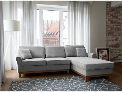 Canapé lit angle en tissu