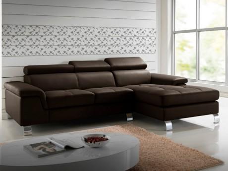 Canapé d angle cuir MISHIMA