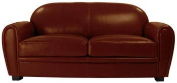 Canapé Club cuir marron clair