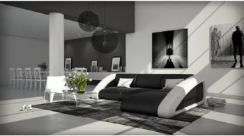 Canapé d angle design noir