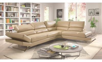 Canapé d angle cuir taupe