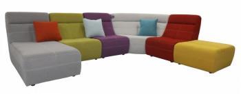 Canapé d angle modulable multicolore