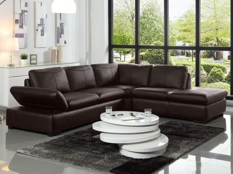 Canapé d angle en cuir ONYX