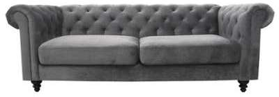Canapé fixe 3 places en tissu