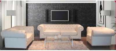 CANAPE CUIR CHESTERFIELD 6