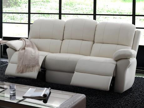 Canapé 3 places relax en cuir