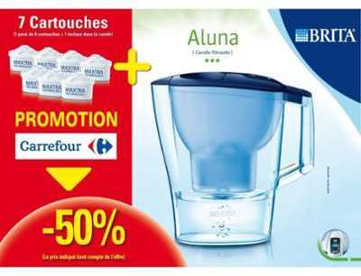 BRTA Pack carafe Aluna 7 cartouches