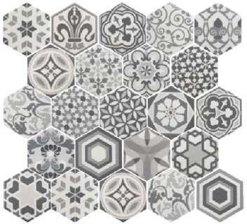 Carrelage hexagonal 17 5x20