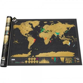 Carte du Monde à Gratter Luxe