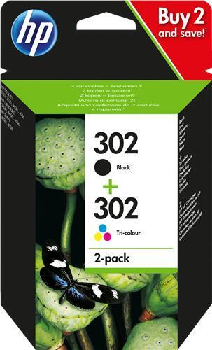 HP 302 Multipack Noir(e) Plusieurs