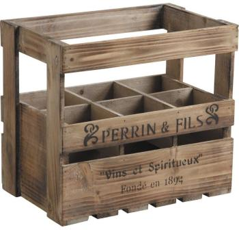 Caisse en bois pour bouteilles