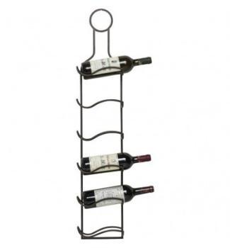 Porte bouteille en acier avec
