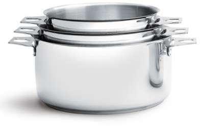 Lot de 3 casseroles-faitouts