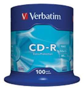 CD-R enregistr 700MB 52x Verbatim(x100)