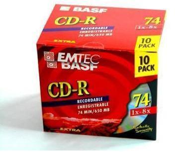 CD-R 74 650MO 1-8x BASF EMTEC