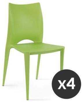 Chaises de terrasse en plastique