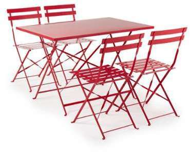 Chaise de jardin pliante rouge