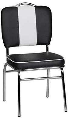 Chaise design rétro en pvc