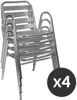 Lot de 4 Chaises aluminium