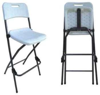 Chaise pliante bar haute -