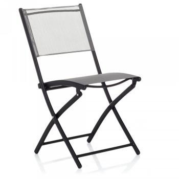 Chaise de jardin pliante taupe