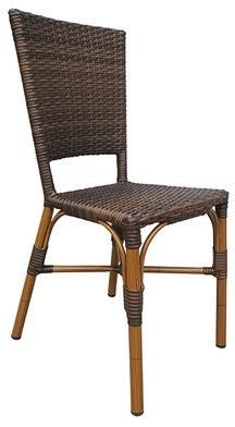 CRO-F084-CF Chaise rotin bistrot