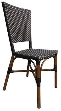 CRO-F084-NG Chaise rotin bistrot