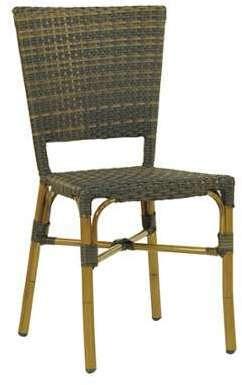 CRO-F003-M Chaise rotin bistrot