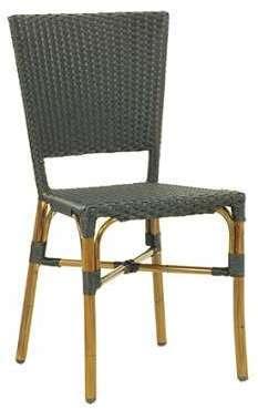CRO-F003-N Chaise rotin bistrot