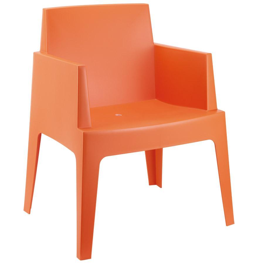 Chaise design PLEMO orange