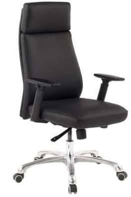 Chaise pivotante en cuir véritable