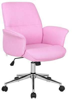 Chaise de bureau rose 0704M