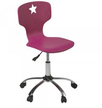 Chaise de bureau junior rose