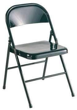 Chaise pliante en métal coloris