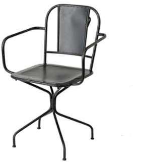 Chaise de bureau métal