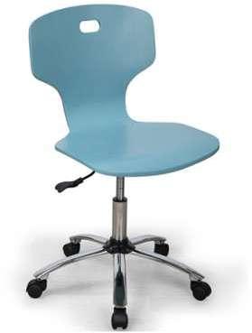 Chaise de bureau enfant bleue
