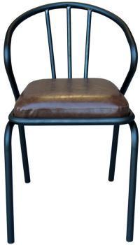 Chaise vintage en métal Waldorf