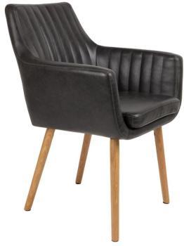 Chaise vintage capitonnée