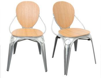 Lot de 2 chaises bistro Louis