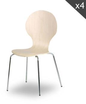 Lot de 4 chaises design Copenhague